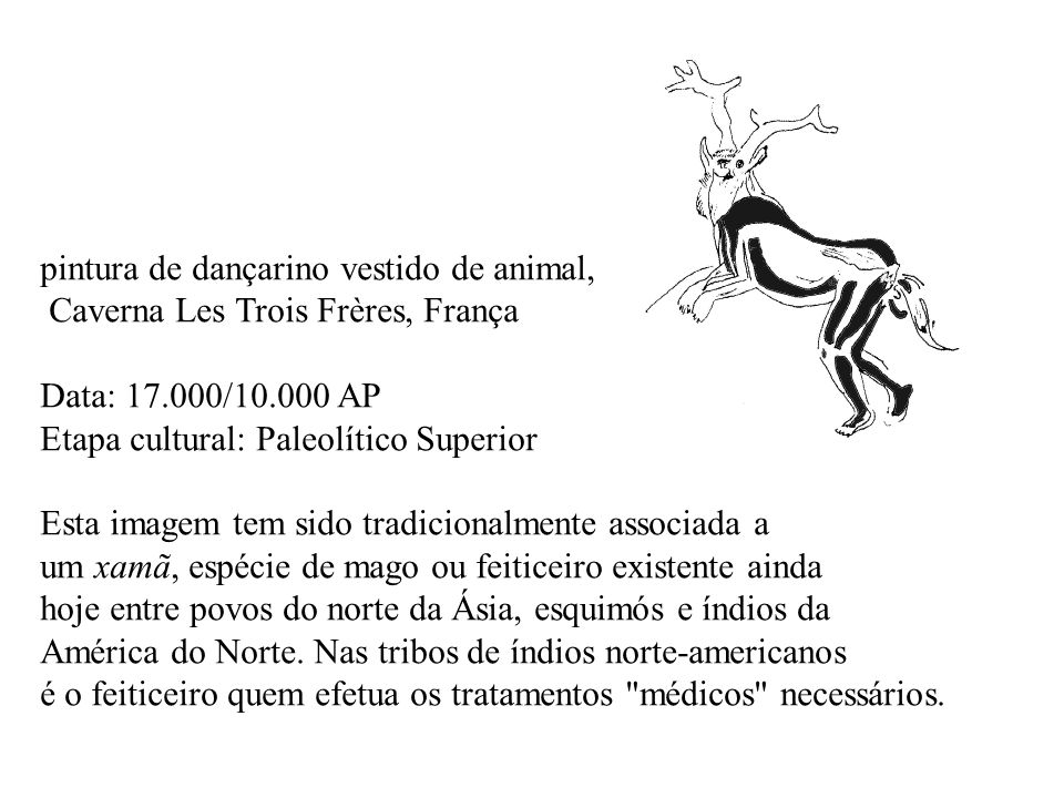 pintura de dançarino vestido de animal,
