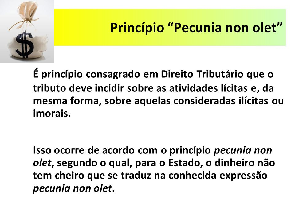 Princípio Pecunia non olet