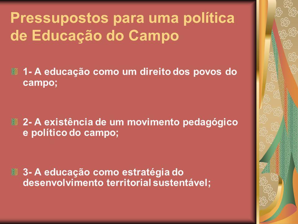 Pressupostos para uma política de Educação do Campo