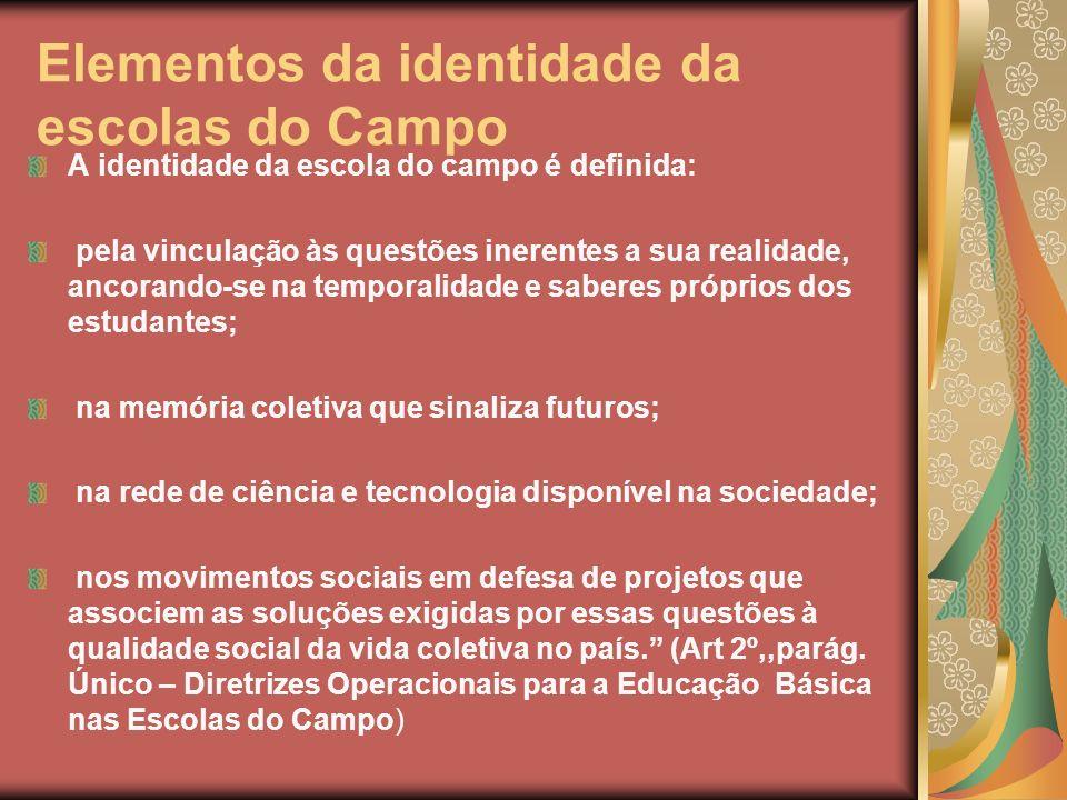Elementos da identidade da escolas do Campo