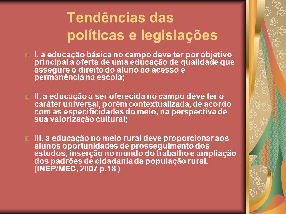 Tendências das políticas e legislações