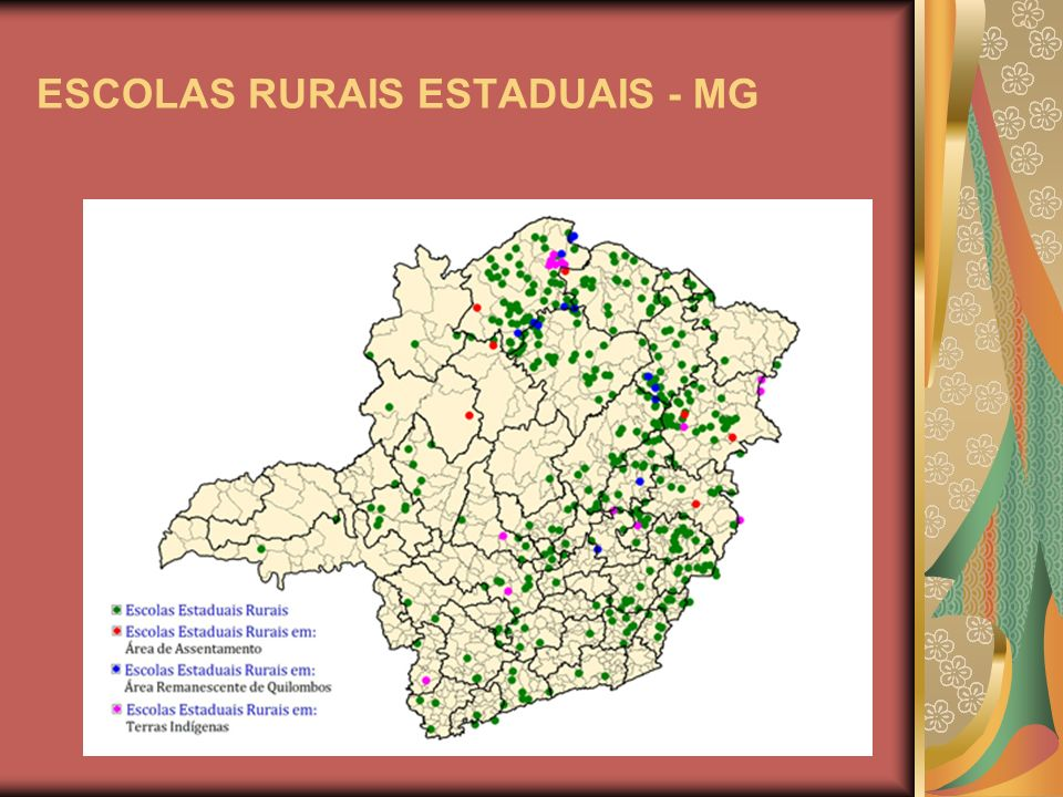 ESCOLAS RURAIS ESTADUAIS - MG