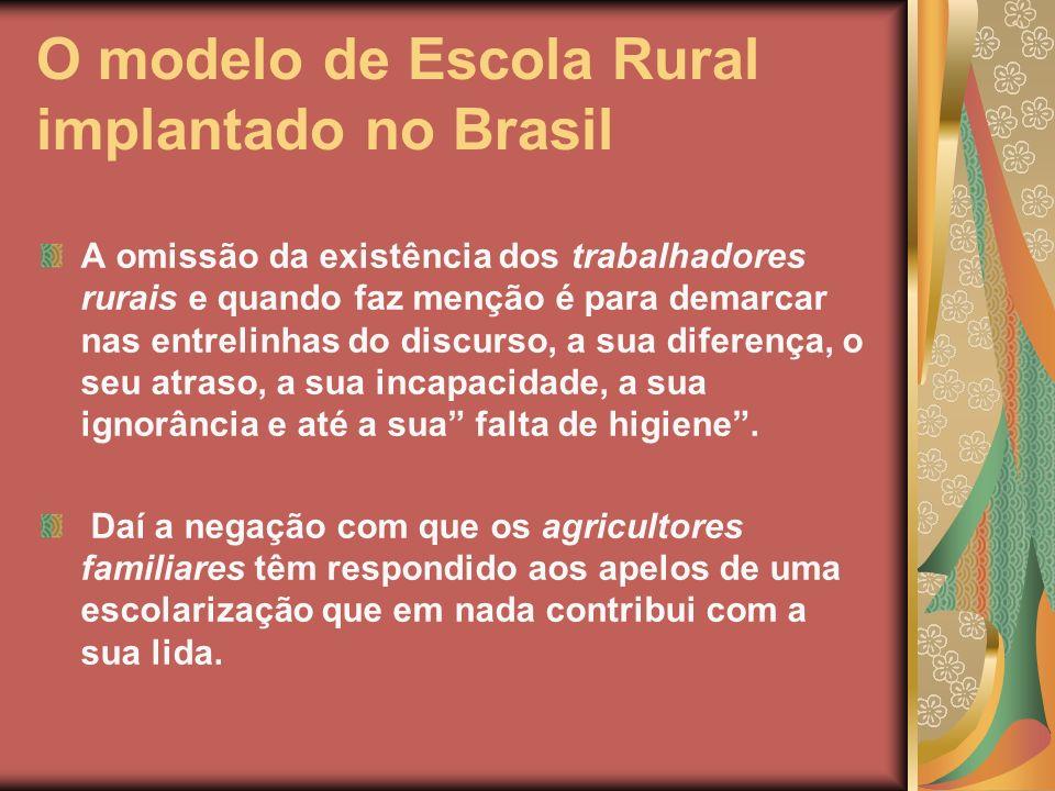 O modelo de Escola Rural implantado no Brasil