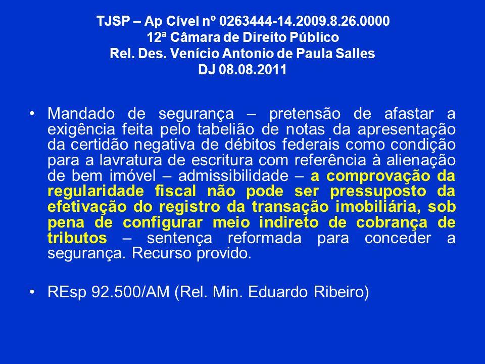REsp 92.500/AM (Rel. Min. Eduardo Ribeiro)