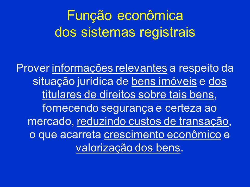 Função econômica dos sistemas registrais
