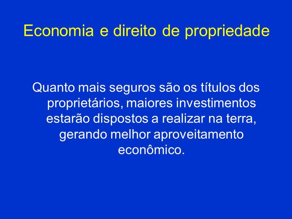 Economia e direito de propriedade