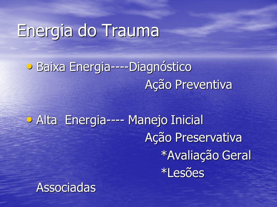 Energia do Trauma Baixa Energia----Diagnóstico Ação Preventiva