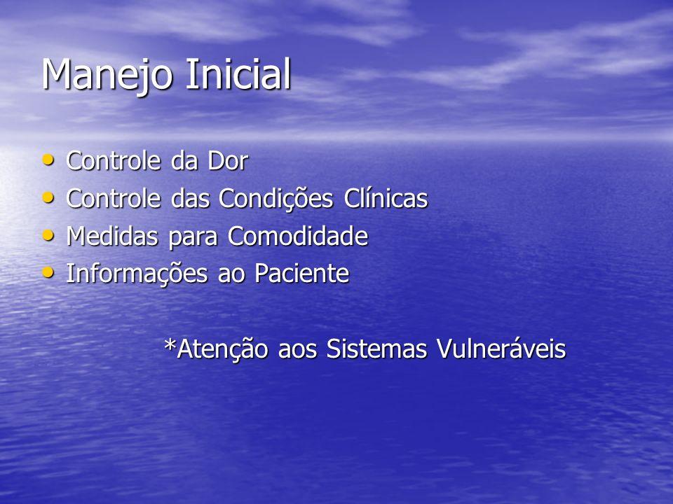 Manejo Inicial Controle da Dor Controle das Condições Clínicas