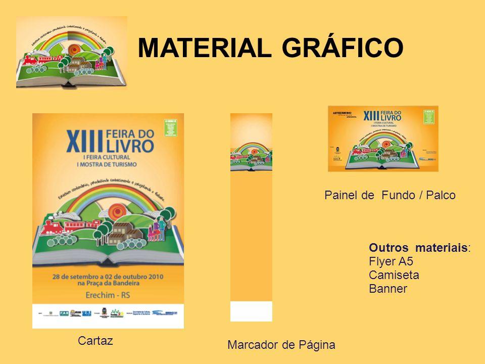 MATERIAL GRÁFICO Painel de Fundo / Palco Outros materiais: Flyer A5