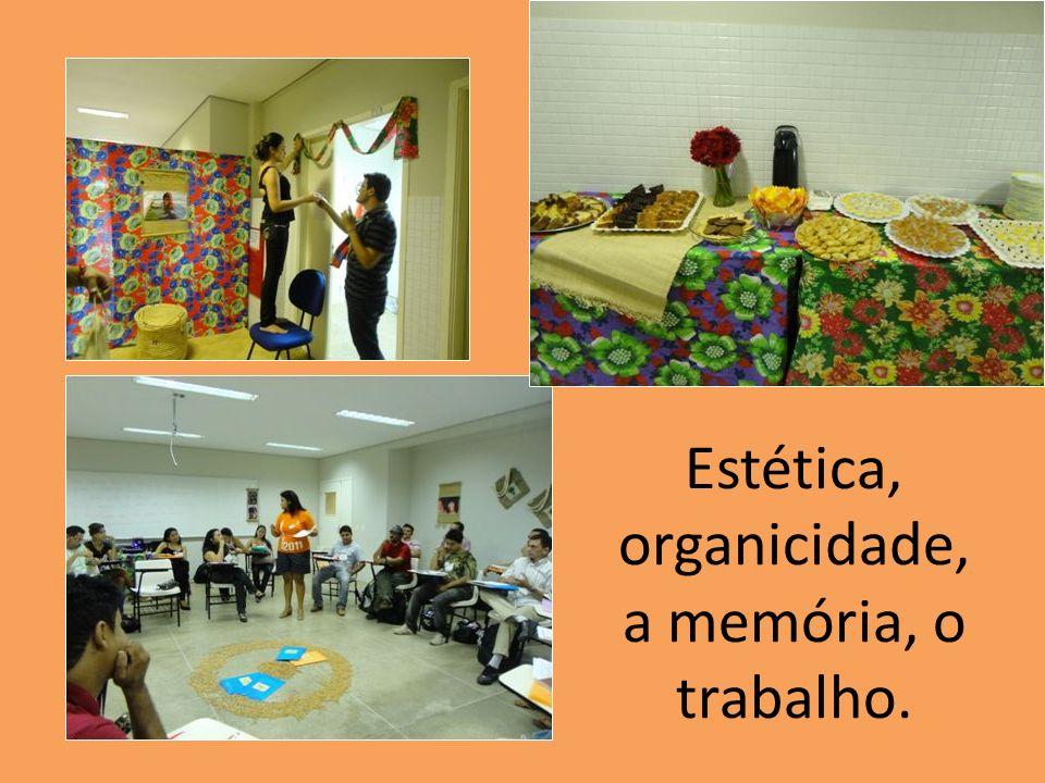 Estética, organicidade, a memória, o trabalho.