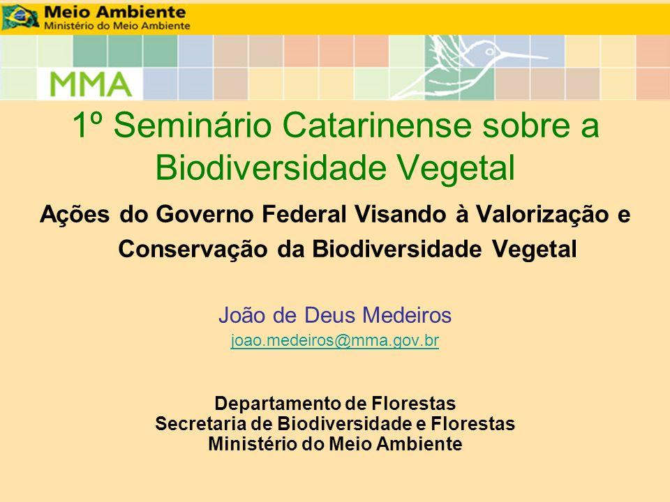1º Seminário Catarinense sobre a Biodiversidade Vegetal