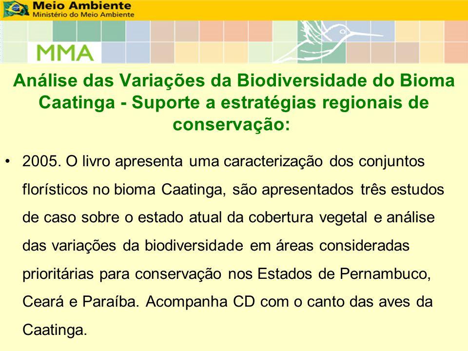 Análise das Variações da Biodiversidade do Bioma Caatinga - Suporte a estratégias regionais de conservação:
