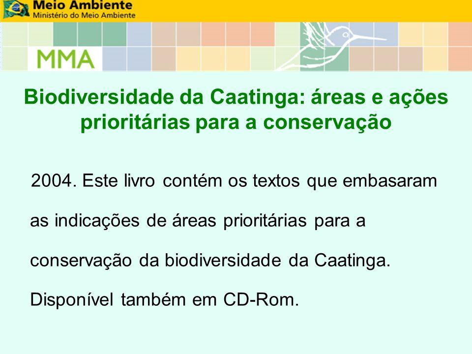 Biodiversidade da Caatinga: áreas e ações prioritárias para a conservação