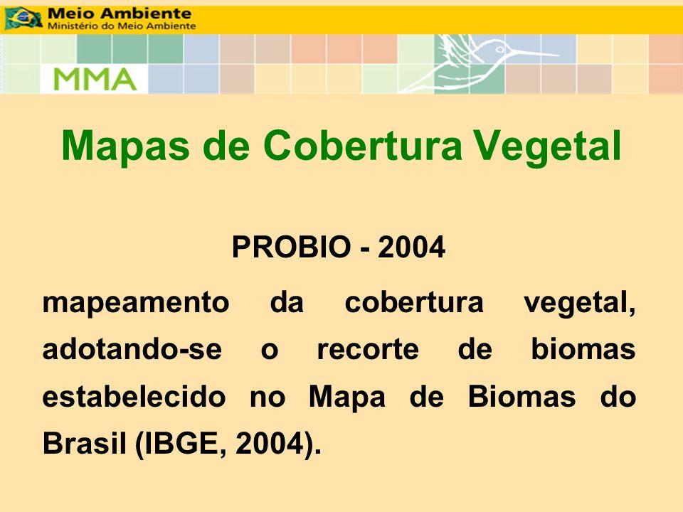 Mapas de Cobertura Vegetal
