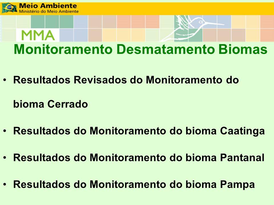 Monitoramento Desmatamento Biomas