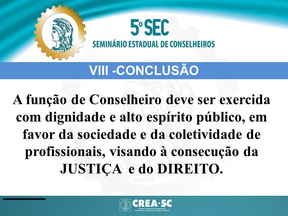 VIII -CONCLUSÃO