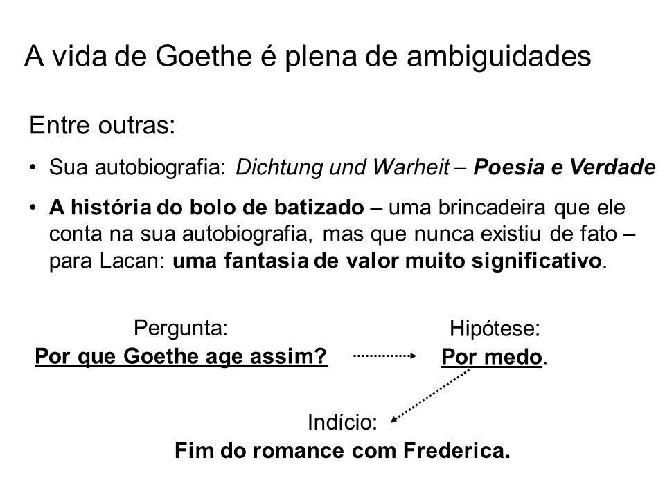 A vida de Goethe é plena de ambiguidades