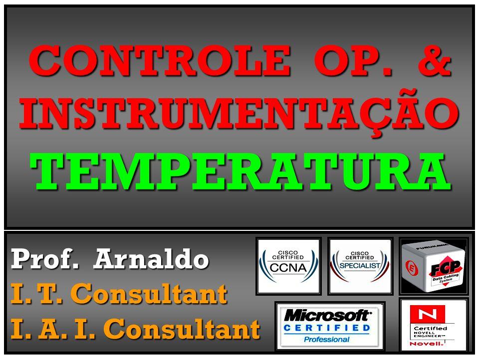 CONTROLE OP. & INSTRUMENTAÇÃO TEMPERATURA