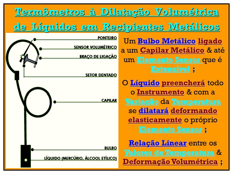 Termômetros à Dilatação Volumétrica