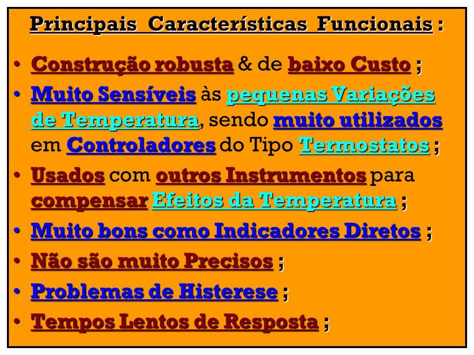 Principais Características Funcionais :