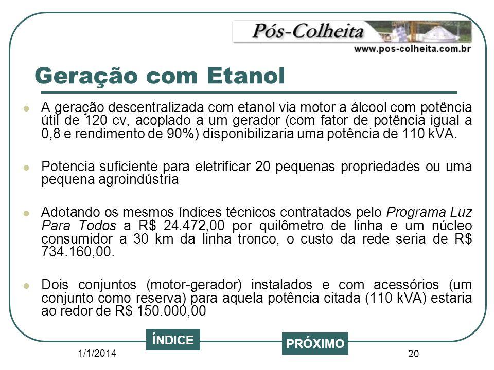 Geração com Etanol
