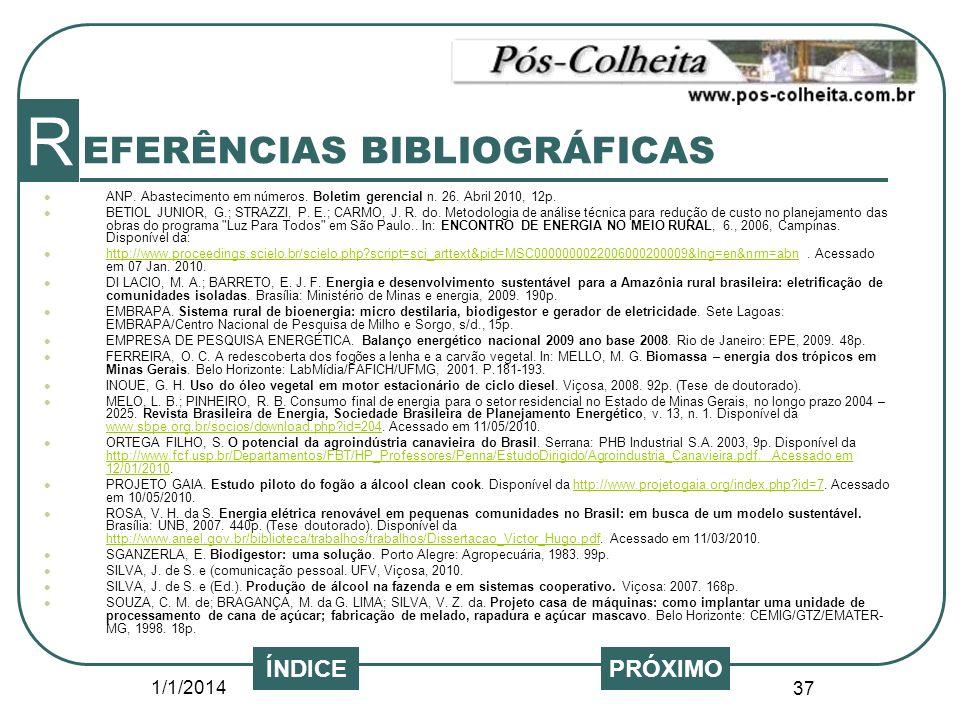 EFERÊNCIAS BIBLIOGRÁFICAS