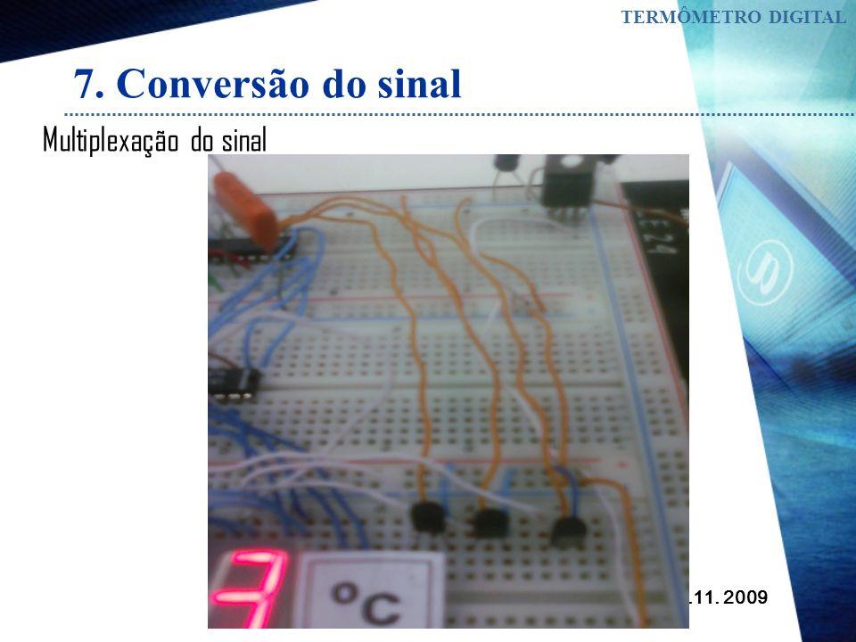 7. Conversão do sinal Multiplexação do sinal TERMÔMETRO DIGITAL