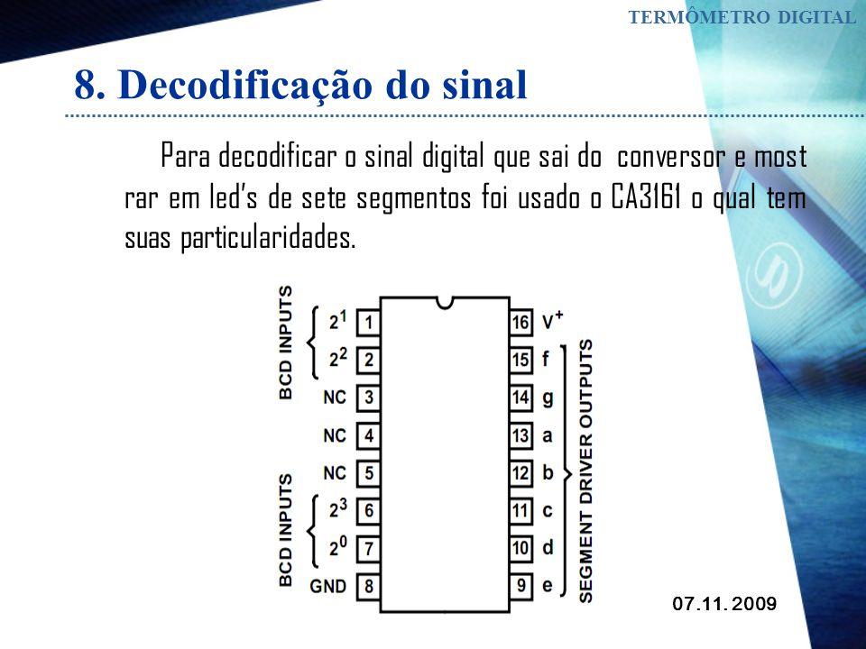 8. Decodificação do sinal