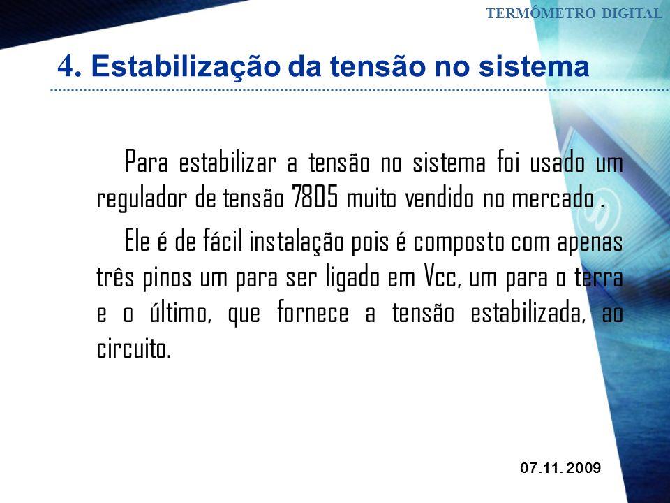 4. Estabilização da tensão no sistema
