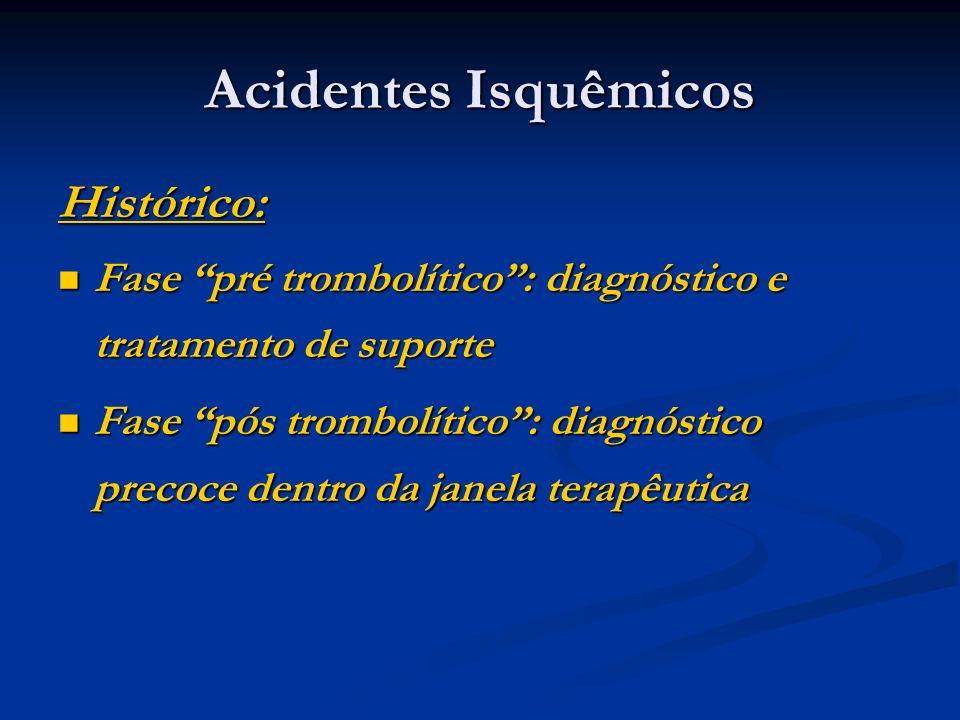 Acidentes Isquêmicos Histórico: