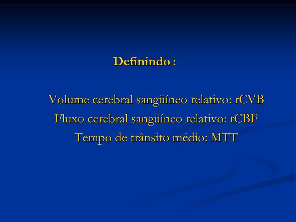 Volume cerebral sangüíneo relativo: rCVB
