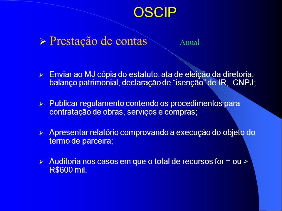 OSCIP Prestação de contas Anual