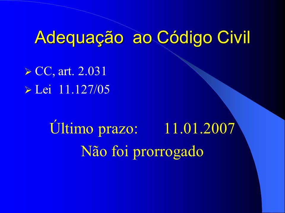 Adequação ao Código Civil
