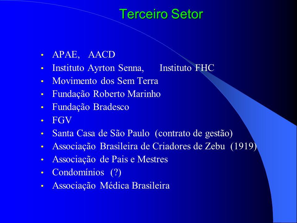 Terceiro Setor APAE, AACD Instituto Ayrton Senna, Instituto FHC