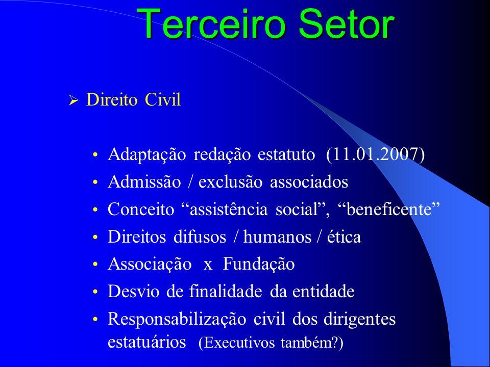 Terceiro Setor Direito Civil Adaptação redação estatuto (11.01.2007)