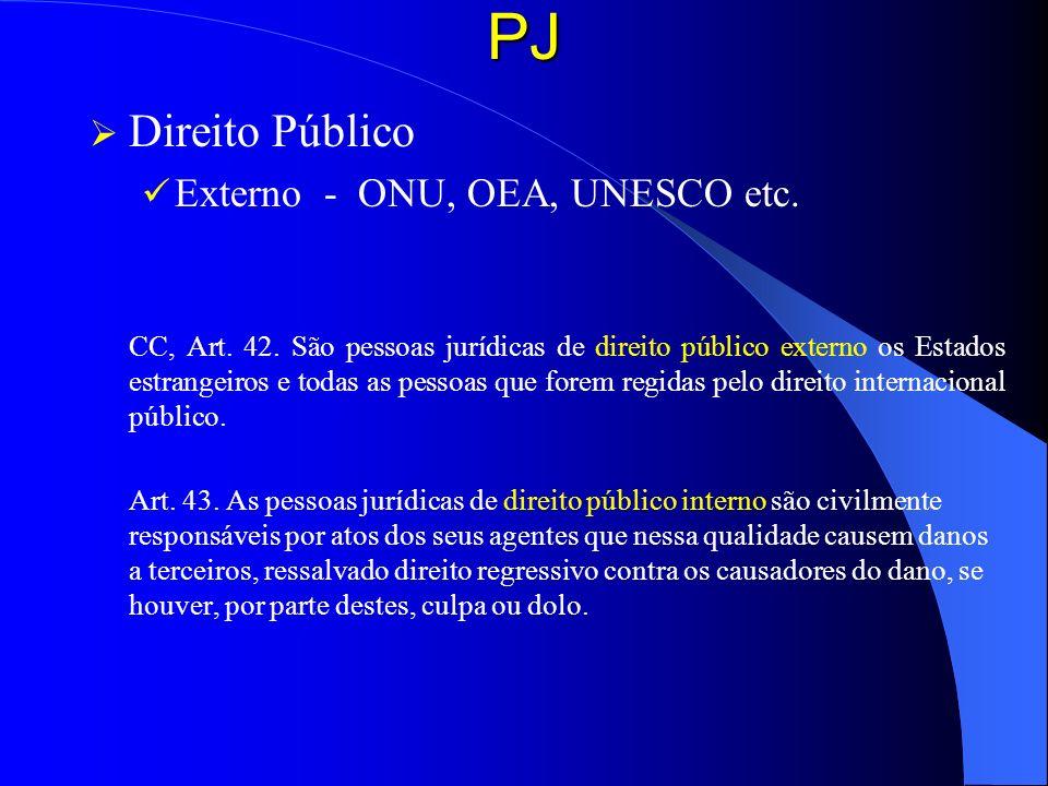 PJ Direito Público Externo - ONU, OEA, UNESCO etc.
