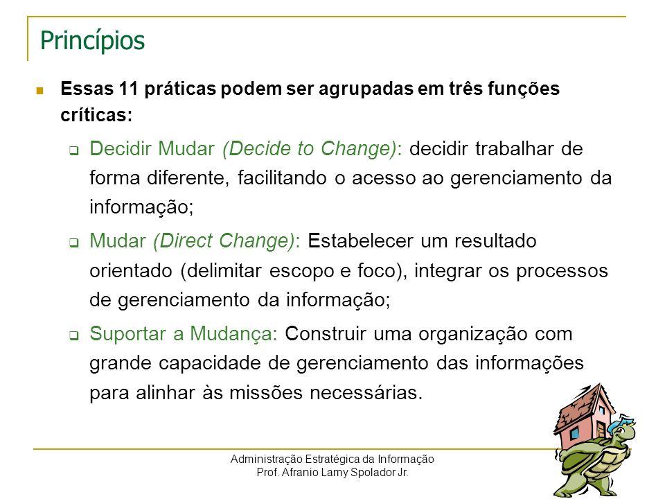 PrincípiosEssas 11 práticas podem ser agrupadas em três funções críticas: