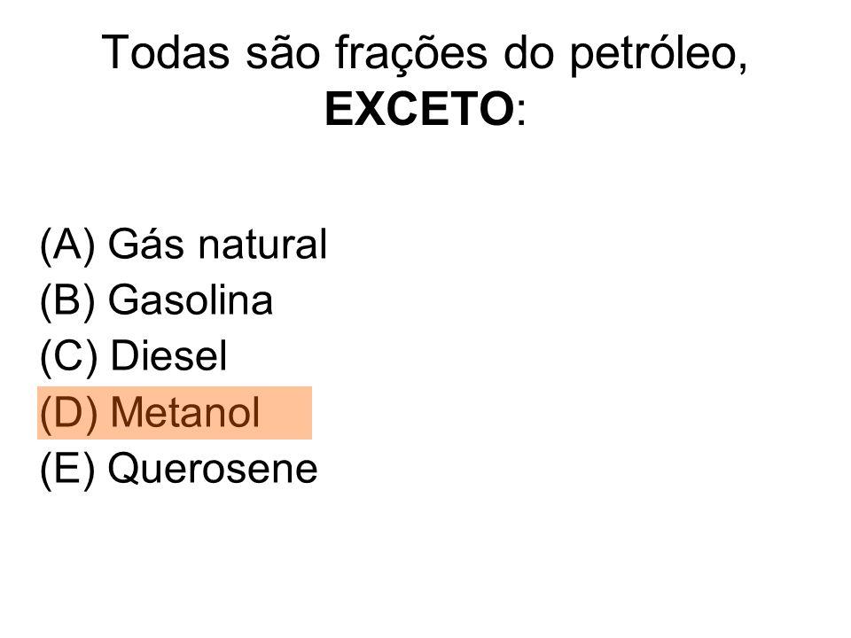 Todas são frações do petróleo, EXCETO: