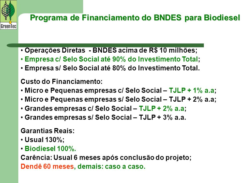 Programa de Financiamento do BNDES para Biodiesel