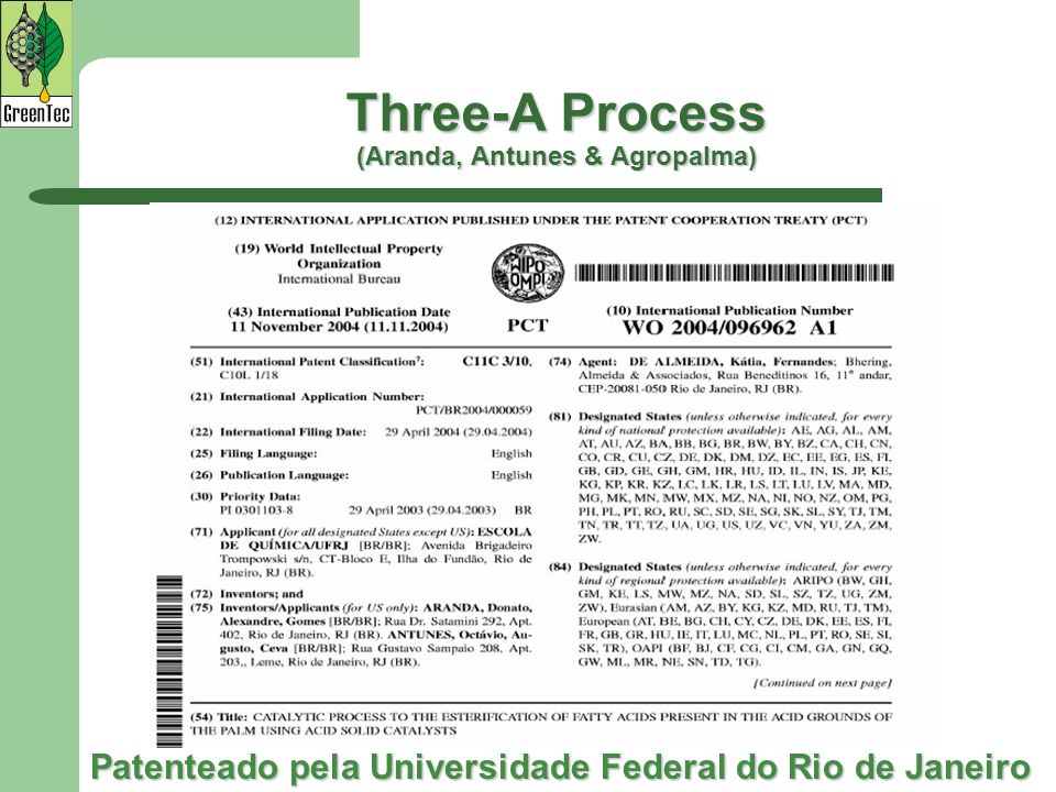 Three-A Process (Aranda, Antunes & Agropalma)