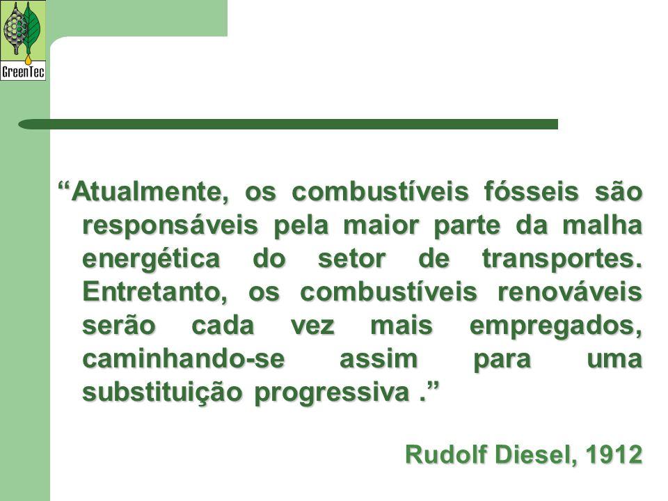 Atualmente, os combustíveis fósseis são responsáveis pela maior parte da malha energética do setor de transportes. Entretanto, os combustíveis renováveis serão cada vez mais empregados, caminhando-se assim para uma substituição progressiva .
