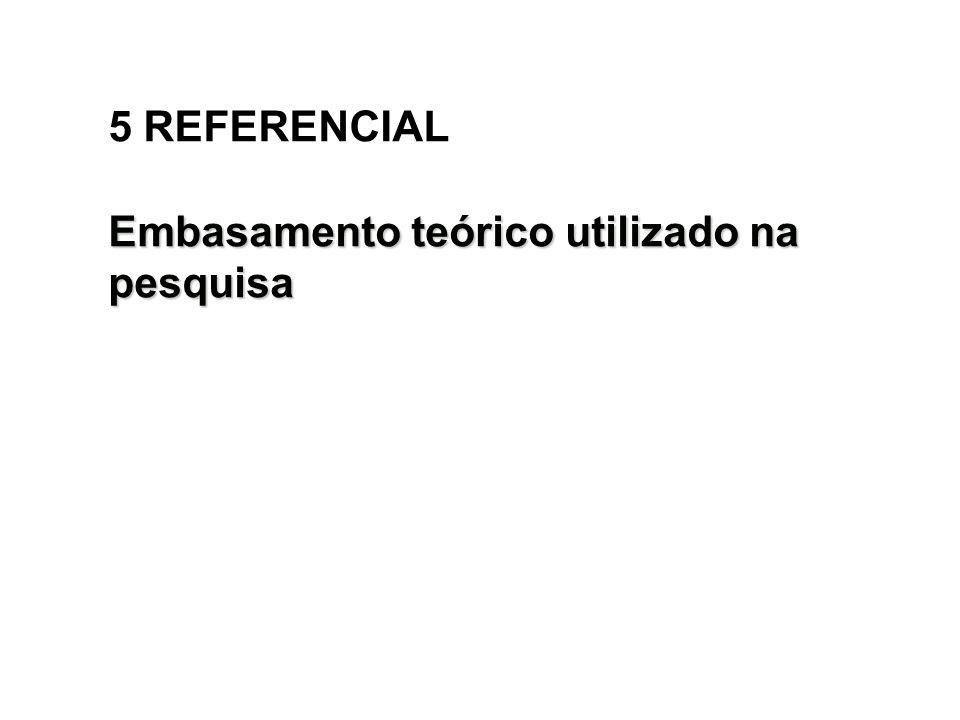 5 REFERENCIAL Embasamento teórico utilizado na pesquisa