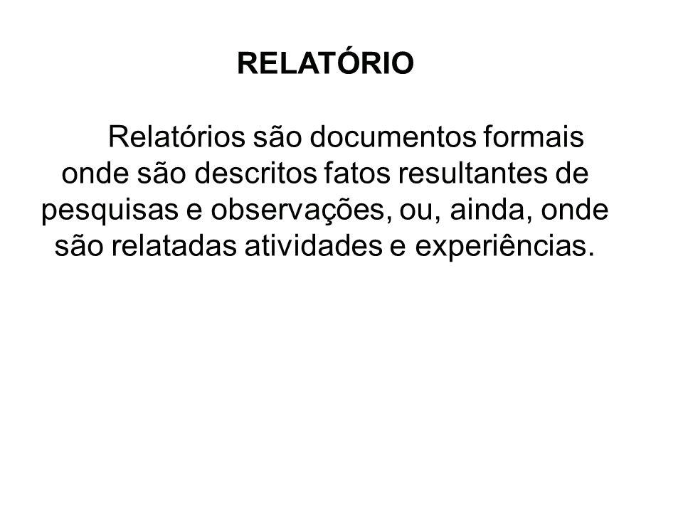 RELATÓRIO.