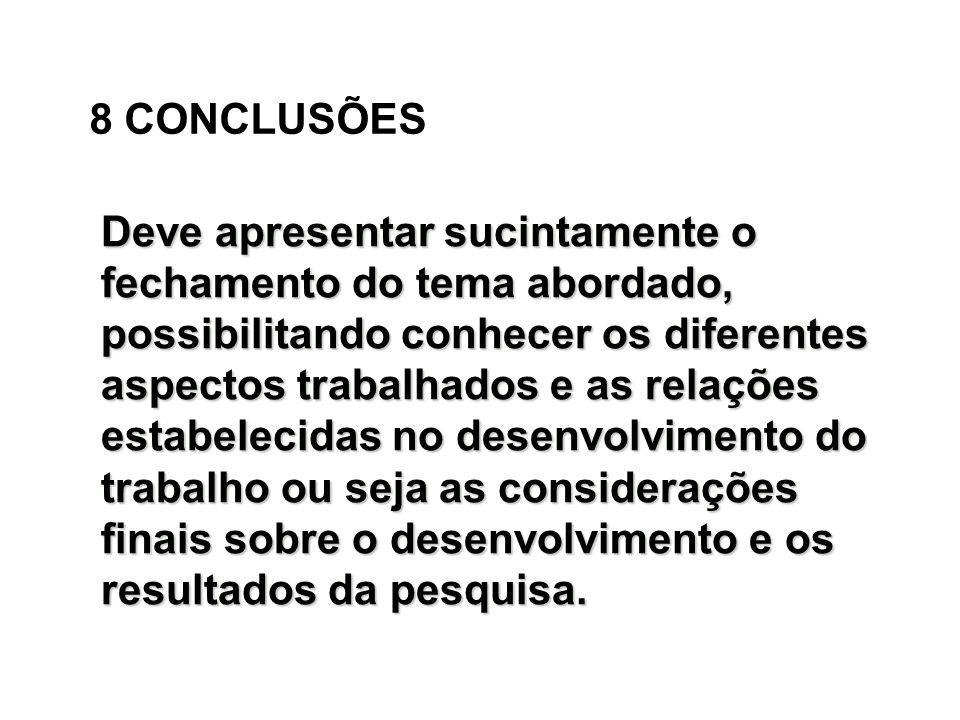 8 CONCLUSÕES
