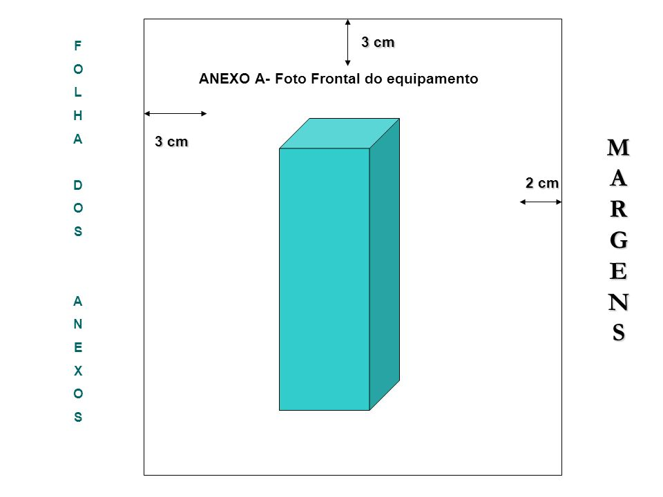 M A R G E N S 3 cm ANEXO A- Foto Frontal do equipamento 3 cm F O L H A