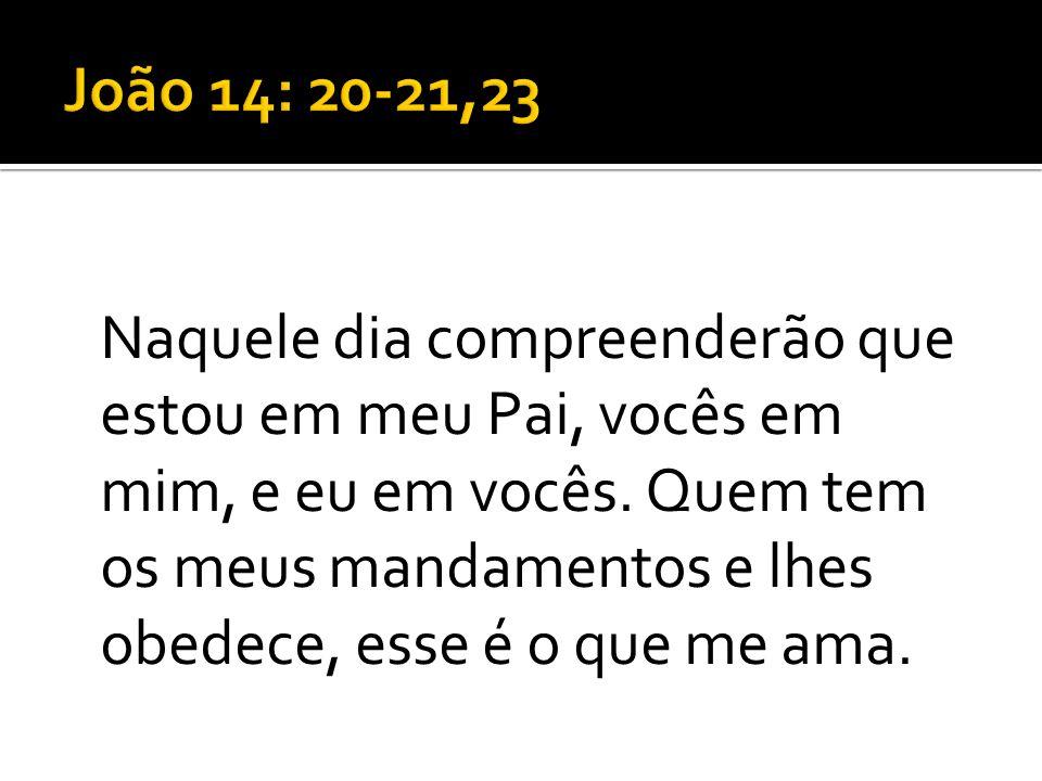 João 14: 20-21,23
