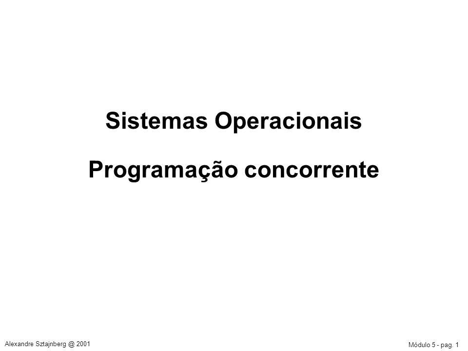 Sistemas Operacionais Programação concorrente