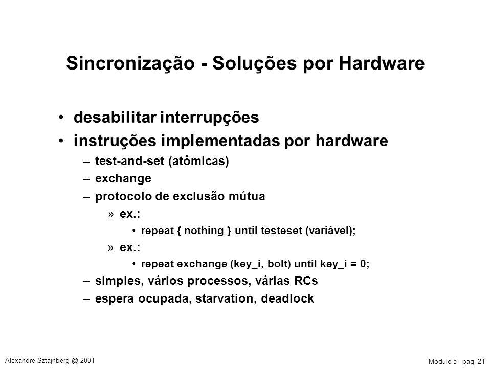 Sincronização - Soluções por Hardware
