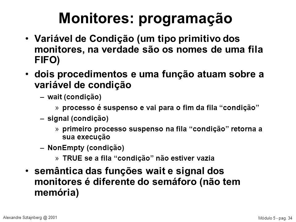 Monitores: programação