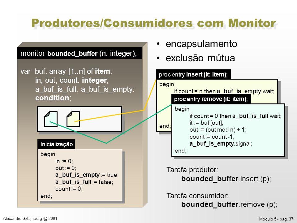 Produtores/Consumidores com Monitor